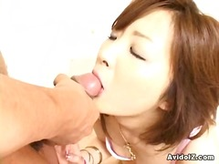 Junna Aikawa, sucking ...