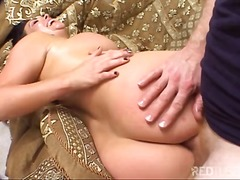 Busty girl enjoys ever...