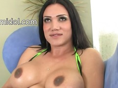 Busty babe with brutal...