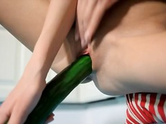 Unreal cucumber in her... from DrTuber