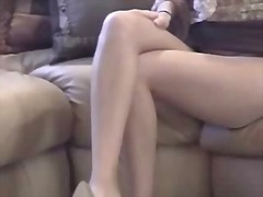 Masturbating girl in p...