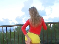 Latvian blonde toying ...