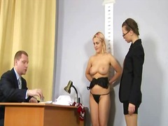 Humiliating nude job i...