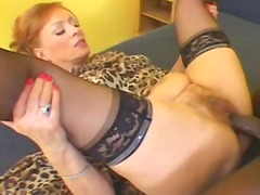 Redhead hooker takes a...