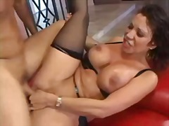 Busty asian drilled ha...