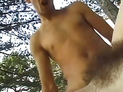 Hairy fuck in forest b...