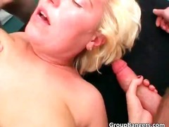 Blond milf bitch takes...