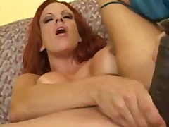 Busty redhead fills he... from Tube8