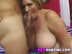 Blonde bbw new to porn