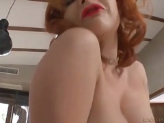 Glamorous redhead in l... from Alpha Porno
