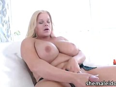 Titty shemale blonde h...