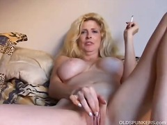 Beautiful blonde milf ...