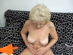 Granny strips nude and... from Alpha Porno