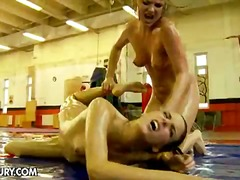 PornerBros - Wrestling wenches figh...