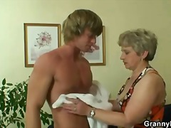 He drills her shaved o...