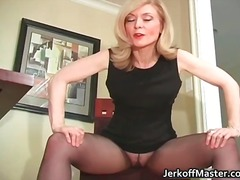 Slutty blond mum with ...
