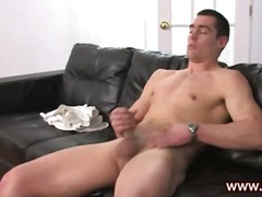 Hot guy jerking off on...