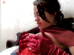 Girl in soft satin glo... from Alpha Porno