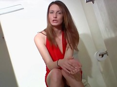 Red halter dress is in... from Alpha Porno