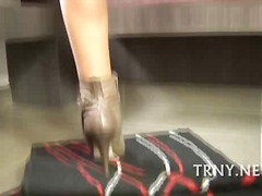 Teen tranny pleases he... from aShemaleTube
