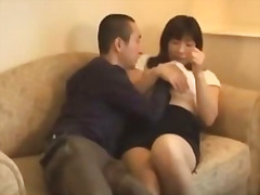 Mature asian woman get...