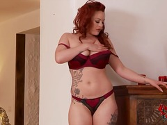 Curvy redhead paige to...