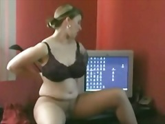 Fat chubby ex gf playi...