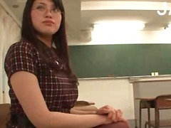 Asian college girl toying from PornoXO