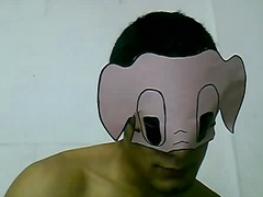 Gay guy in mask hot ma...