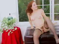 Ginger fucks her bush