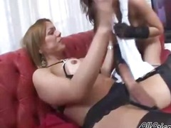 Shemale fucks girl wit...