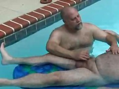 Hairy big boys jerking...
