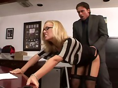Nicole fucks in office from Redtube