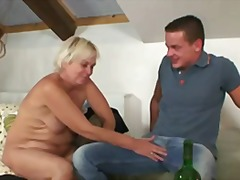 Keez Movies - Drunk old bag seduces ...