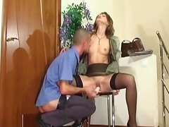 Hot lady gets choked b... from PornerBros