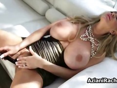Busty blonde babe goes...