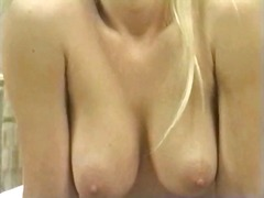 Mature blonde slut sti...