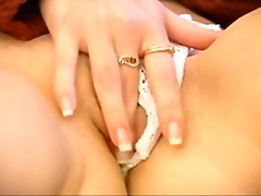 Blonde girl masturbation. from Xhamster