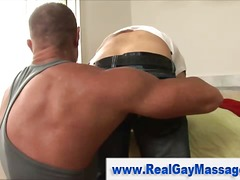 BoyFriendTV - Straight hunk rubbed down
