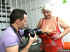 Xhamster - Blonde fatty gives tit...