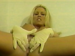 Hot young blonde with ...