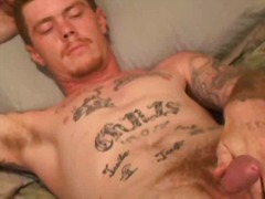 Tattooed gay guy solo ...