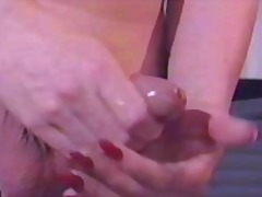 Vintage blonde jerking... from aShemaleTube