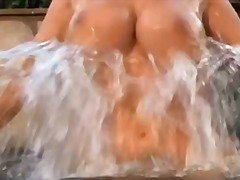 Blonde boobs at the pool