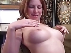Shaved pussy of ginger...