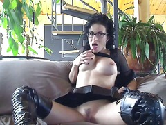 Kinky bianca in leathe... from Alpha Porno