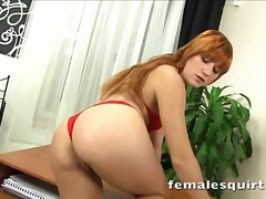 Foxy redhead squirting