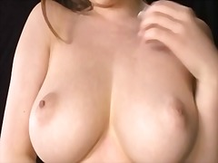 Tittie fucking with dildo