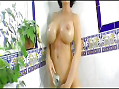Busty milf in shower from H2porn