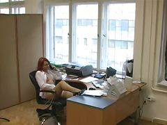 Business woman voyeur ...